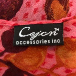 Cejon Accessories - Like New Cejon Crepe 💯 Percent Silk Scarf